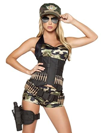 5pc Army Babe Camouflage Halloween Costume
