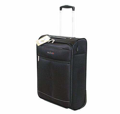 Bagaglio a Mano Ryanair 55x40x20 Pellicano Jazz Ultra Leggero Nero