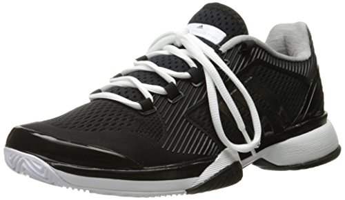 adidas Performance Women's Asmc Barricade 2016 Tennis Shoe, Black/White/Oyster Grey, 8.5 M US