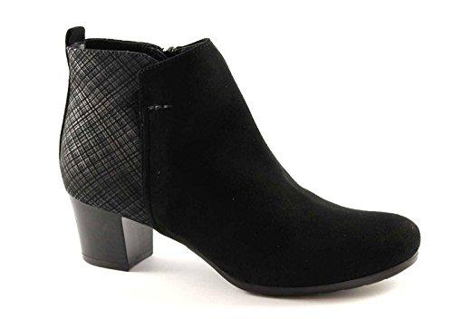 GRUNLAND KUBA PO0644 nero scarpe stivaletti donna tronchetti zip laterale 38