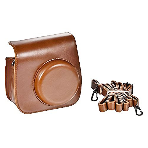 [Fujifilm Instax Mini 8 Case] Brown Color Cute Design PU Leather Instax Mini 8 Camera Case Bag
