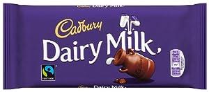 Cadbury Dairy Milk Chocolate Bar 120 g (Pack of 8)