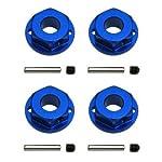 SC10 4x4 Alu-Felgen-Mitnehmer 6-Kant, 12mm, Blau (4)