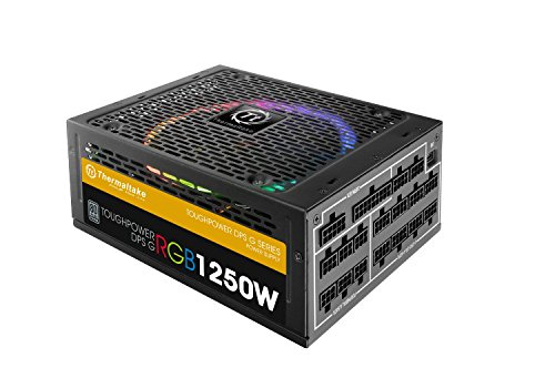 Thermaltake ToughPower RGB 1250W 80+ TITANIUM Fully Modular Power Supply 10 YR Warranty with 256-colors and Secure Smart Power Management (Thermaltake Modular Cables compare prices)