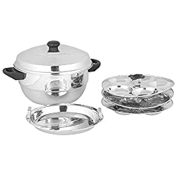 Premium Stainless Steel Vegan 15 Idly Pot Cum Steamer