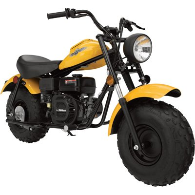 Baja Motorsports MB200 Mini Bike - 196cc, Yellow, Model# MB200-GY