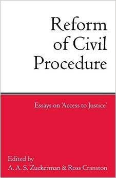 civil procedure essays