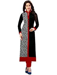 Rensil Women's Clothing Designer Party Wear Low Price Sale Offer Top Tunic Cotton Dress Black & Red Free Size...