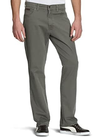 WRANGLER Texas Stretch Stretch Twill Tapered Men's Trousers Army Grey W30INxL32IN
