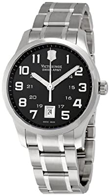 Victorinox Swiss Army Men's 241322 Alliance Black Dial Watch