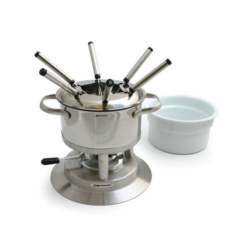 Arosa 11 Piece Stainless Fondue Set