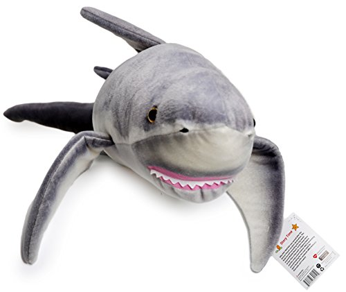 Kiki the Great White Shark | 51 Inch Big Stuffed Animal Plush | Prime 2 Day Guaranteed Shipping from California Available (Giant Plush Shark compare prices)