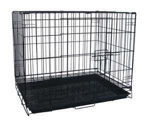 "Puppies/Kitten/Rabbit Pet Suitcase Style Folding Training Crate Cage 24""x17""x20""-BLK"