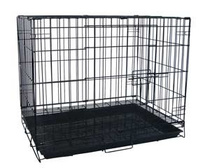 "Puppies/Kitten/Rabbit Pet Suitcase Style Folding Training Crate Cage 24""X17""X20""-Blk"