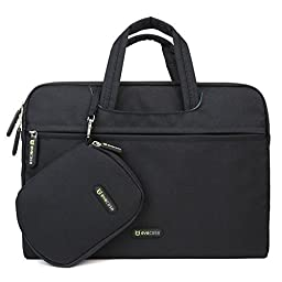 Evecase Carrying Sleeve Bag Briefcase with Handle + Accessories Pouch Case and Mouse Pad for Lenovo Yoga 13.3inch Laptop Ultrabook Tablet - Black