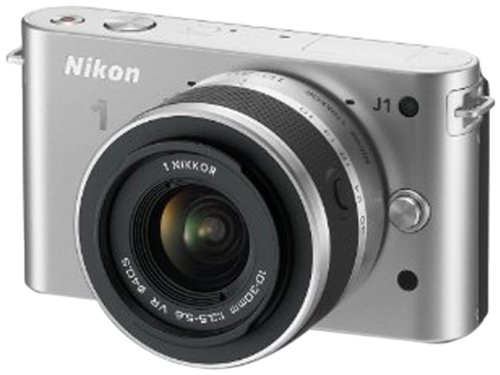 Nikon 1 J1 Compact System Camera with 10-30mm Lens Kit - Silver (10.1MP) 3 inch LCD