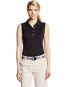 Callaway Ladies Sleeveless Polo Shirt with Rib Collar by Callaway