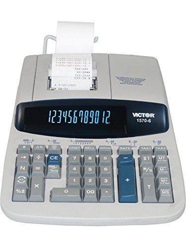 Victor 1570-6 14 Digit Professional Grade Heavy Duty Commercial Printing Calculator (Commercial Adding Machine compare prices)