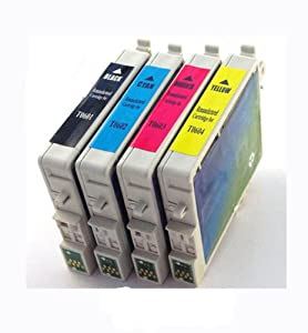 INKWOR Compatible Ink Cartridges Replacement for Epson 69,T069 (Black, Cyan, Magenta, Yellow, 4-Pack)