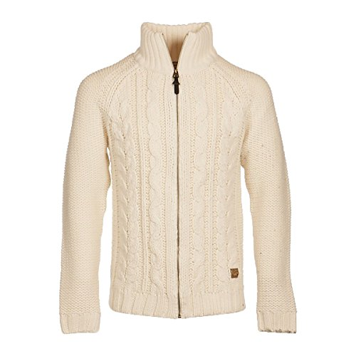 Petrol Industries -  Maglione  - Basic - Collo mao  - Maniche lunghe  - Uomo 007 Antique White S
