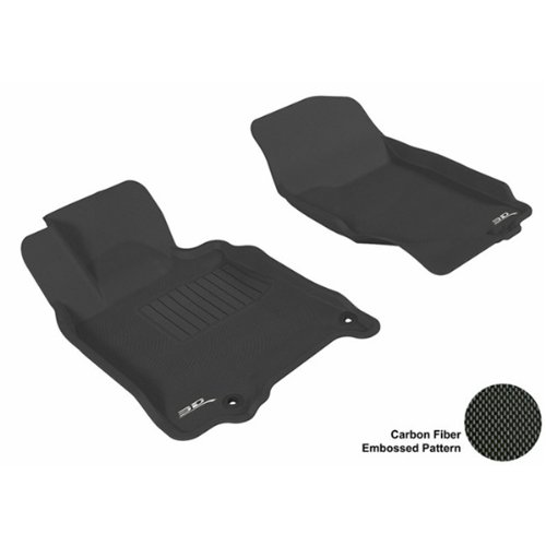 3D Maxpider Front Row Custom Fit All-Weather Floor Mat For Select Infiniti G35/G37 Models - Kagu Rubber (Black)