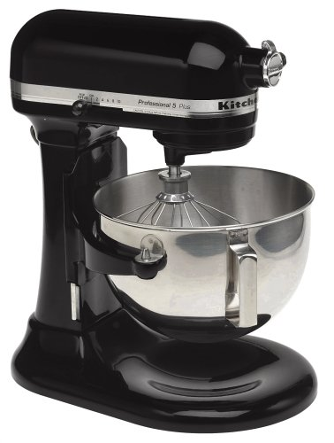 KitchenAid RKV25GOXOB Professional 5 Plus 5-Quart Stand Mixer, Onyx Black (Certified Refurbished) (Kitchenaid Plus 5 compare prices)