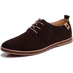 SITAILE Moda Scarpe basse classiche Scarpe stringate basse Oxford stringata Uomo Marrone Braun