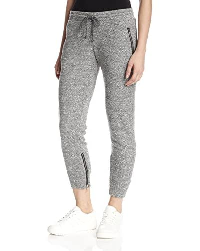 LNA Women's Crepe Zip Sweatpant
