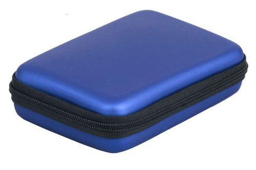 """Zehui Portable Hard Disk Drive Shockproof Zipper Cover Bag Case 2.5"""" HDD Bag Hardcase Blue"""