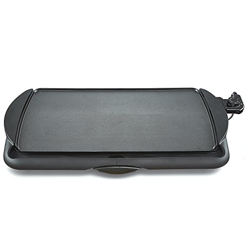 BELLA 10.5 Inch by 20 Inch Electric Non Stick Griddle, Black  BPA-FREE 13602 (Bella Griddle compare prices)