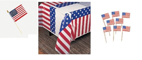 USA Patriotic PARTY DECOR/Decoration Set/STARS & STRIPES/U.S.A./Welcome HOME/AMERICA