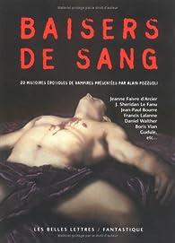 Baisers de sang : 20 histoiresérotiques de vampires par Alain Pozzuoli