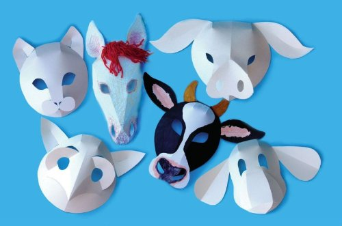 Domestic Animal Masks - Pack of 30