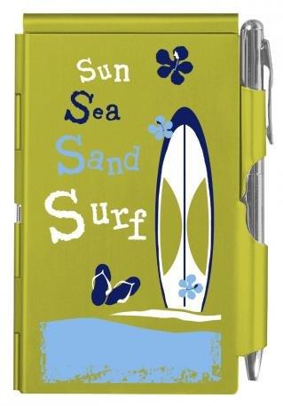 sun-sea-sand-surf-wellspring-notes-e-penna-blocco-tascabile-con-custodia-verde