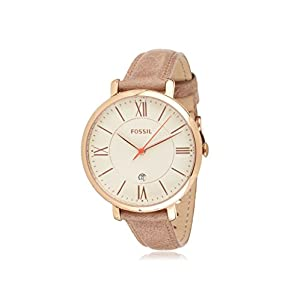 Fossil Women's ES3487 Jacqueline Analog Display Analog Quartz Beige Watch