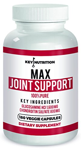 MAX Joint Support 180 Count- Powerful 1600 MG Glucosamine With 500 mg Turmeric, 800 mg Chondroitin, 500 mg MSM - Supports Joint Mobility, Pain Relief and Comes With Anti Inflammatory Properties