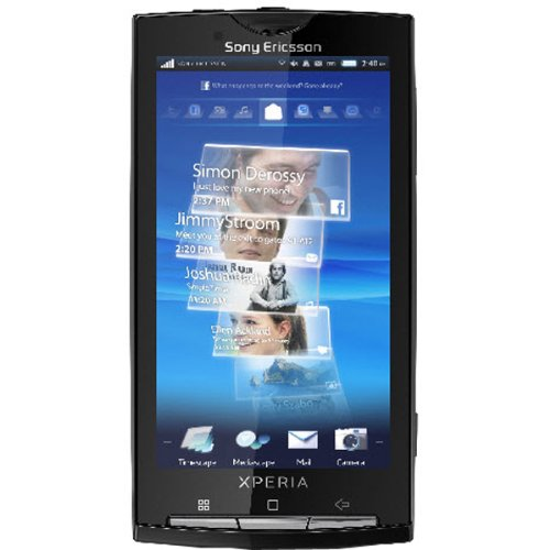 Sony Ericsson Xperia X10 Unlocked Phone with Android OS, 8.1 MP Camera, QWERTY Keyboard and GPS - US Warranty - Sensuous Black