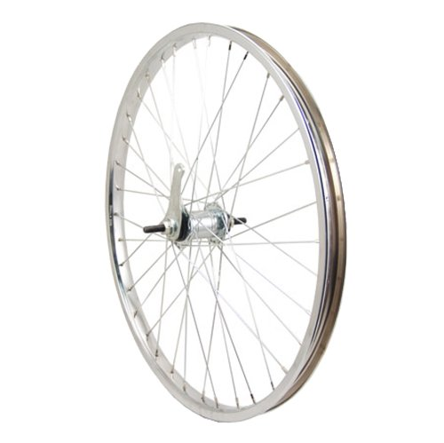 Sta-Tru Silver Steel Coaster Hub Rear Wheel (24X1.75-Inch)