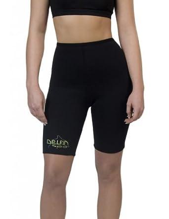 Delfin Spa Bio Ceramic Anti Cellulite Shorts, Black/Black, X-Small
