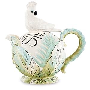 Fitz and Floyd Cockatoo Teapot
