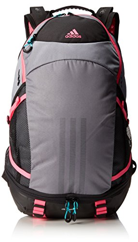 Adidas Girl'S Climacool Ii Backpack, Grey/Solar Pink/Hyper Green, 20 X 12 1/2 X 8-Inch back-1068339