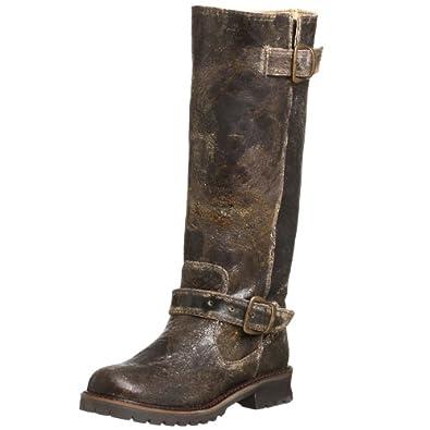 Steve Madden Women's Hacienda Boot,Brown Distressed,5.5 M