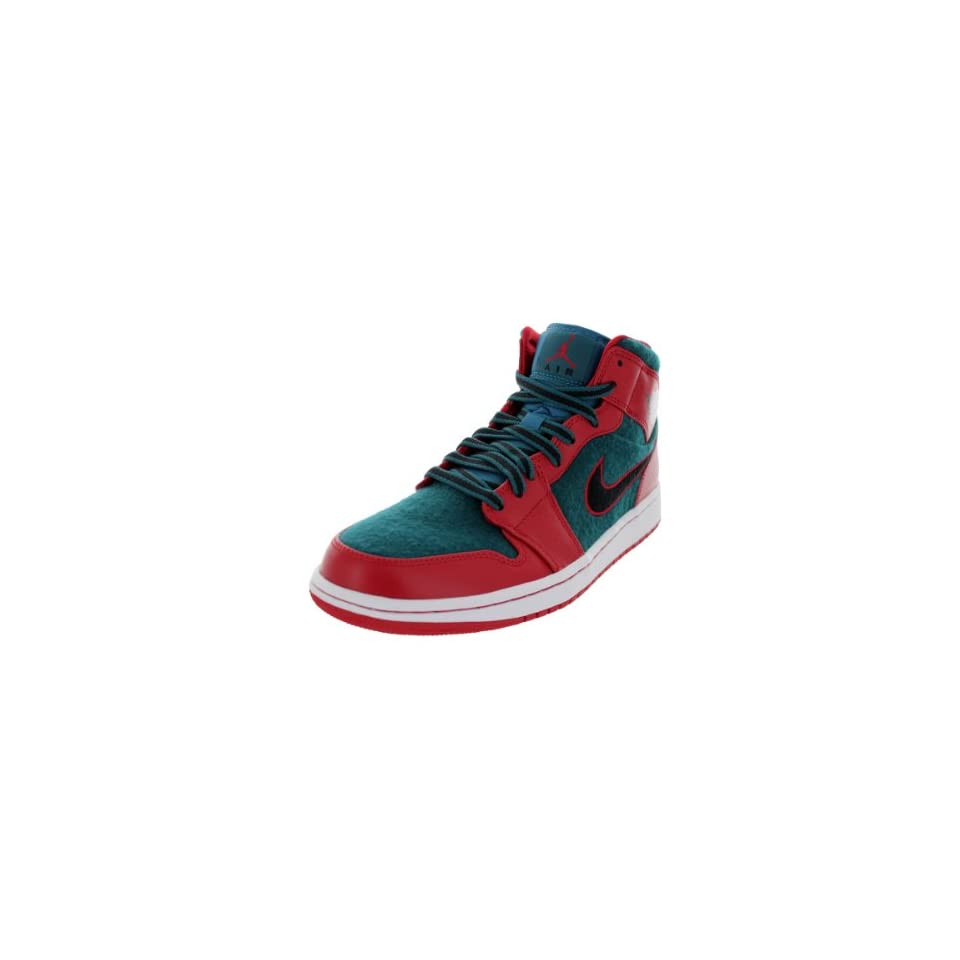 Nike Jordan Mens Air Jordan 1 Gym Red/Black/Dark Sea Basketball Shoe 7.5 Men US