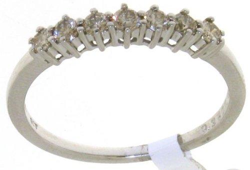 Modern 9 ct White Gold Women Half Eternity Diamond Ring Brilliant Cut 0.35 Carat
