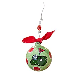 Glory Haus Golf Ball Ornament, 4 by 4-Inch