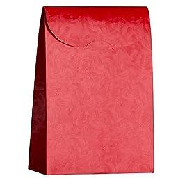 6 Decorative Boxes - Italian Design Premium and Stylish Red Saccholo Bottiglia (10.4 x 3.0 x 14.6 inches) 370