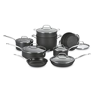 Cuisinart 66-14 Chefs Classic Nonstick Hard-Anodized 14-Piece Cookware Set