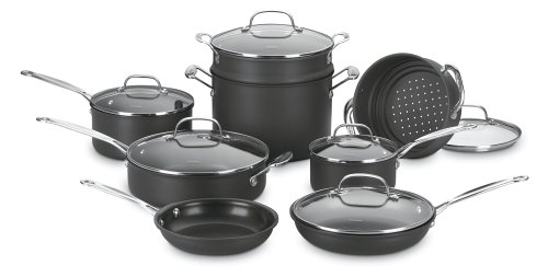 Christmas Cuisinart Chef's Classic Nonstick Hard-Anodized 14-Piece Cookware Set Deals