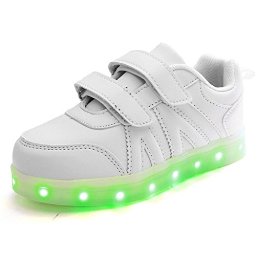 DoGeek-Zapatos-Led-Nias-Deortivos-Para-7-Color-USB-Carga-LED-Luz-Glow-USB-Flashing-Zapatillas-nio-Elegir-1-tamao-ms-grande