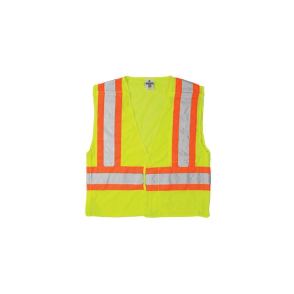 ML Kishigo 1174 Ultra Cool Polyester Mesh Breakaway Vest, 5X Large, Lime